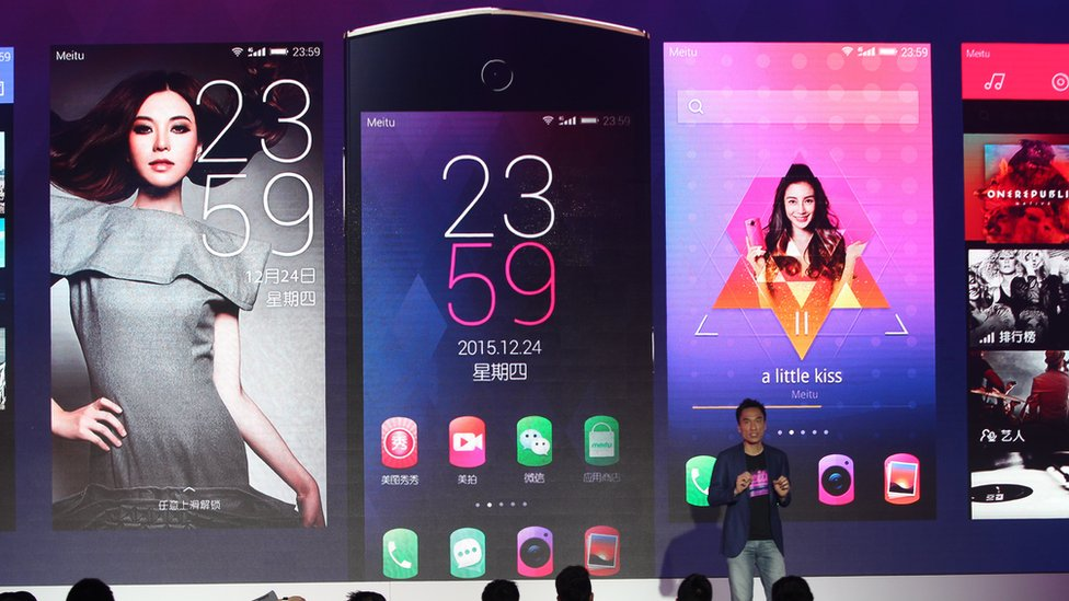 Kinson Loo at the Meitu M4 smartphone launch in 2015