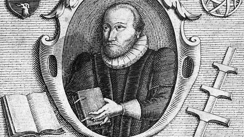 Grabado de C. Le Blon del académico inglés Robert Burton (1577 - 1640)
