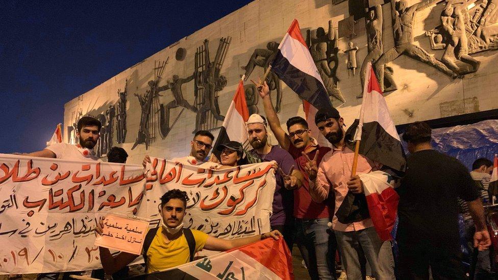 مساعدات من كركوك لمتظاهري بغداد