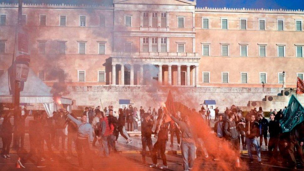 Migrantes en Grecia.