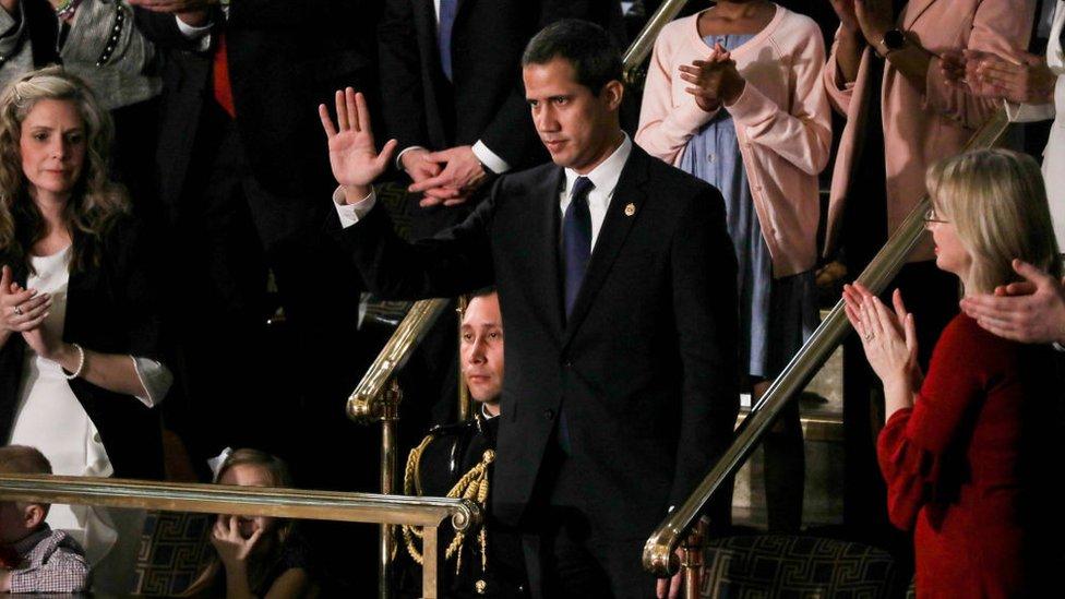 Juan Guaidó en el Congreso de Estados Unidos.