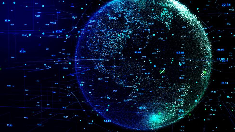 Planeta con códigos
