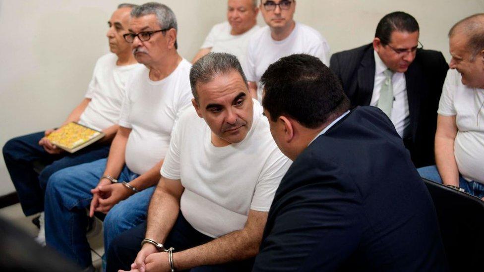 Elías Antonio Saca, expresidente de El Salvador, durante la audiencia donde le condenaron a 10 años por corrupción.