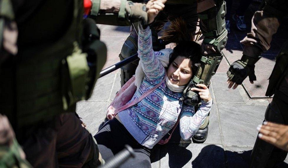 Represión a manifestante