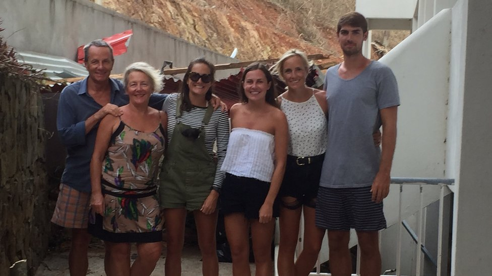 Tommy White, Jessica Smart and the other members of the group on holiday