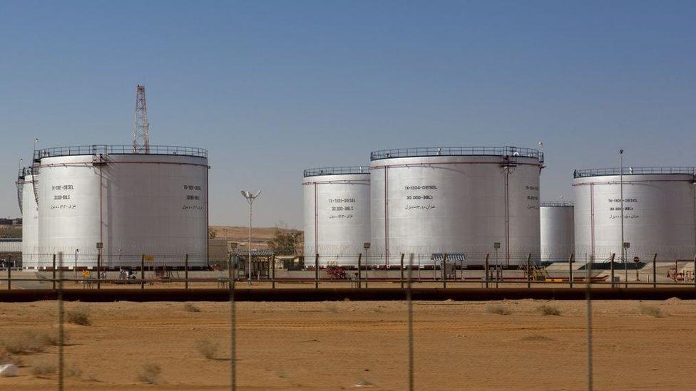 خزانات نفط في السعودية
