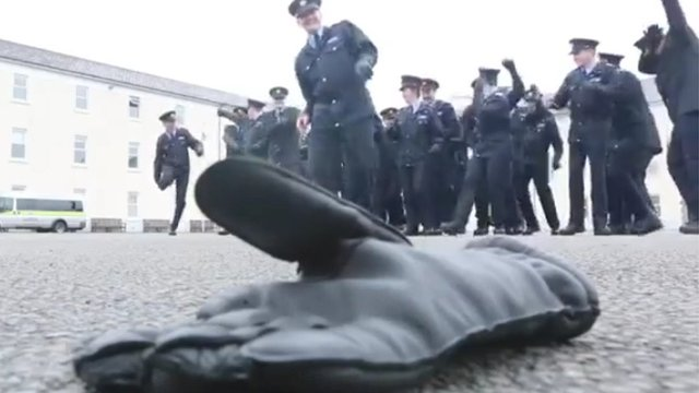 The gardaí challenged the Police Service of Northern Ireland (PSNI) to a 'running man' dance off
