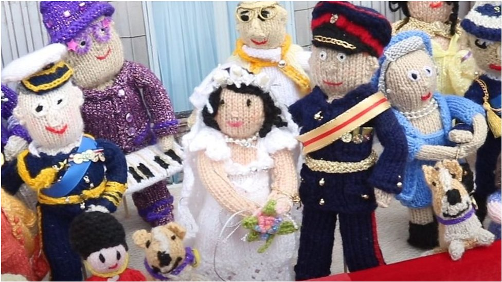 Royal wedding: Prince Harry and Meghan Markle knitted