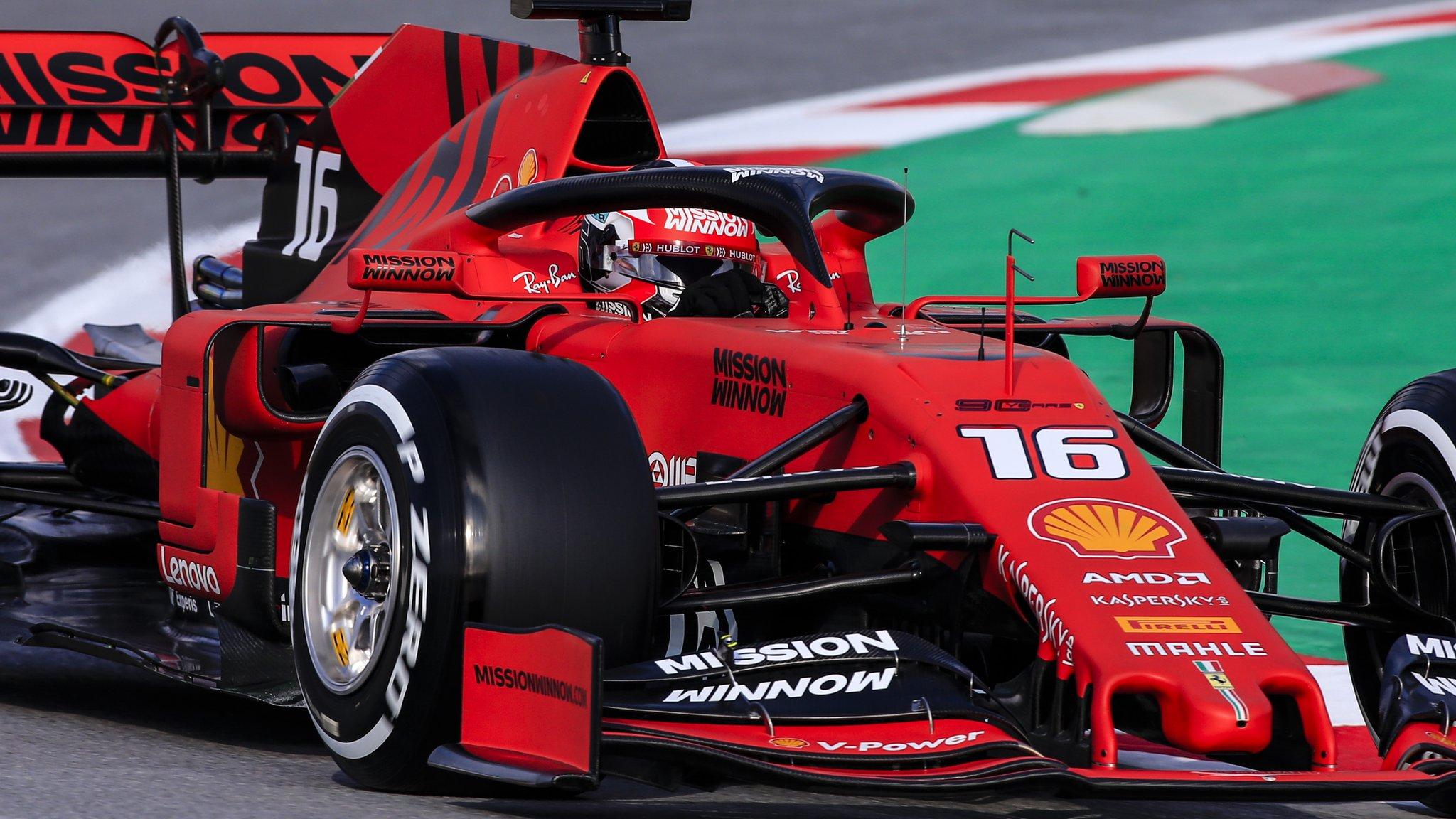 F1 testing: Leclerc fastest for Ferrari in Barcelona