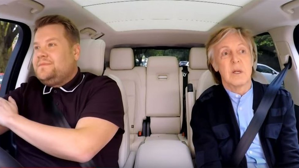 James Corden tears up at Paul McCartney's carpool karaoke