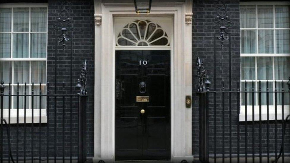 Behind the famous door