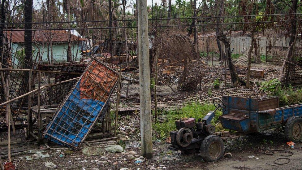 Desa Rohingya di Maungdaw