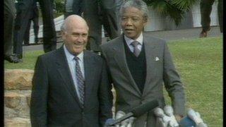 De Klerk i Mandela