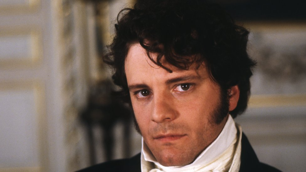 Actor Colin Firth playing Mr Darcy in the BBC's 1995 adaptation of Pride and Prejudice