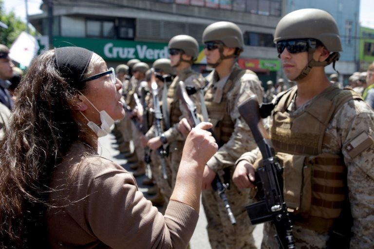 Militares en la calle