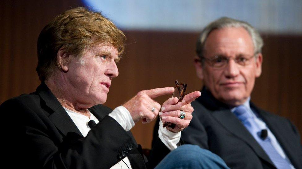 Robert Redford and Bob Woodward