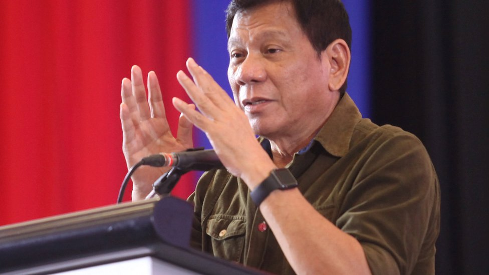Philippine President-elect Rodrigo Duterte speaks during a conference with businessmen in Davao city, southern Philippines, 21 June 2016.