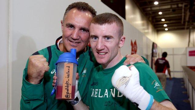 Ireland head coach Billy Walsh with Paddy Barnes