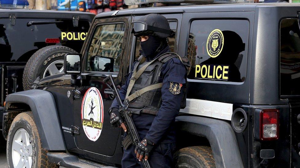 أحد أفراد الأمن في مصر
