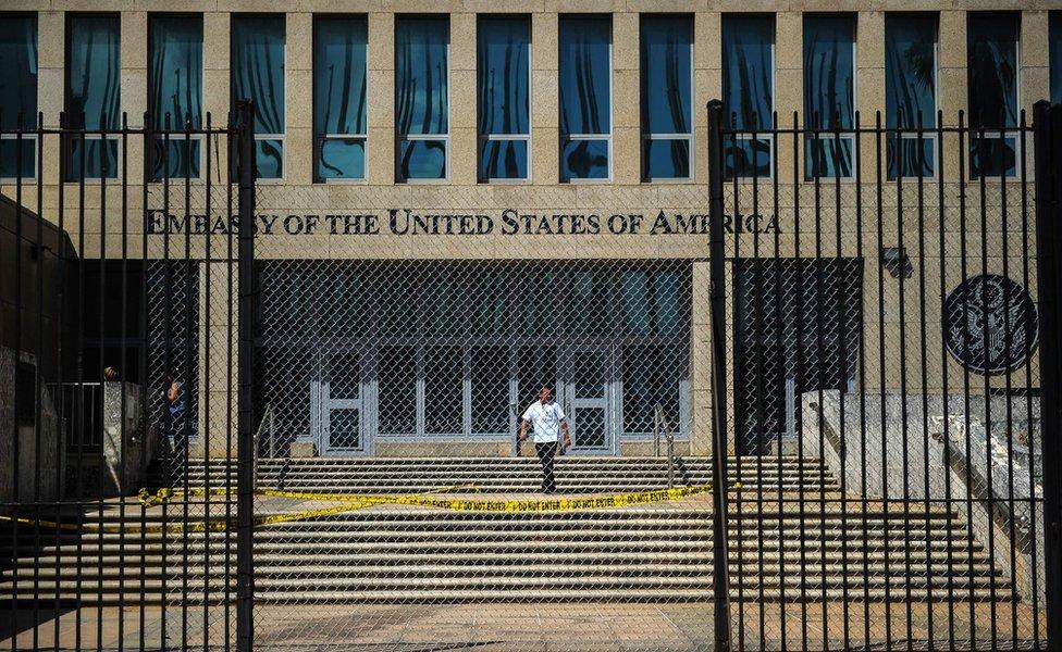 Embajada estadounidense en La Habana.
