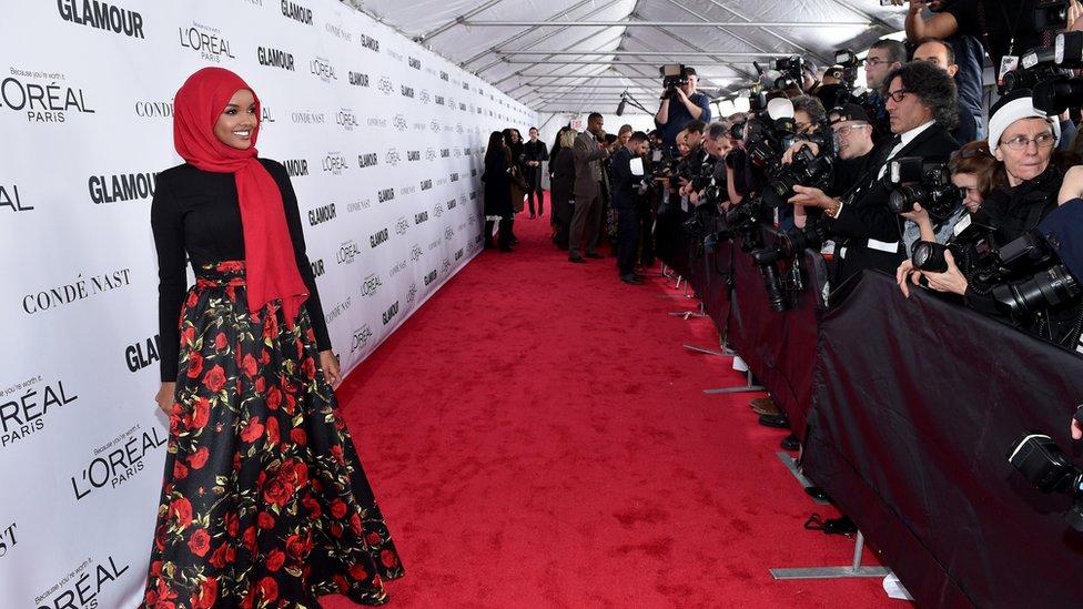 Halima Aden on the red carpet