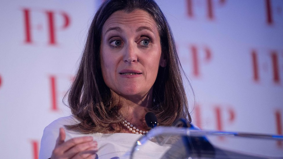 Canadian Foreign Minister Chrystia Freeland (13 June 2018)