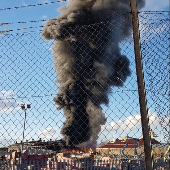 Fire in Helen Street, Govan