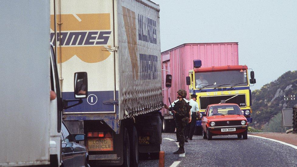 Border checkpoint at Kileen near Newry