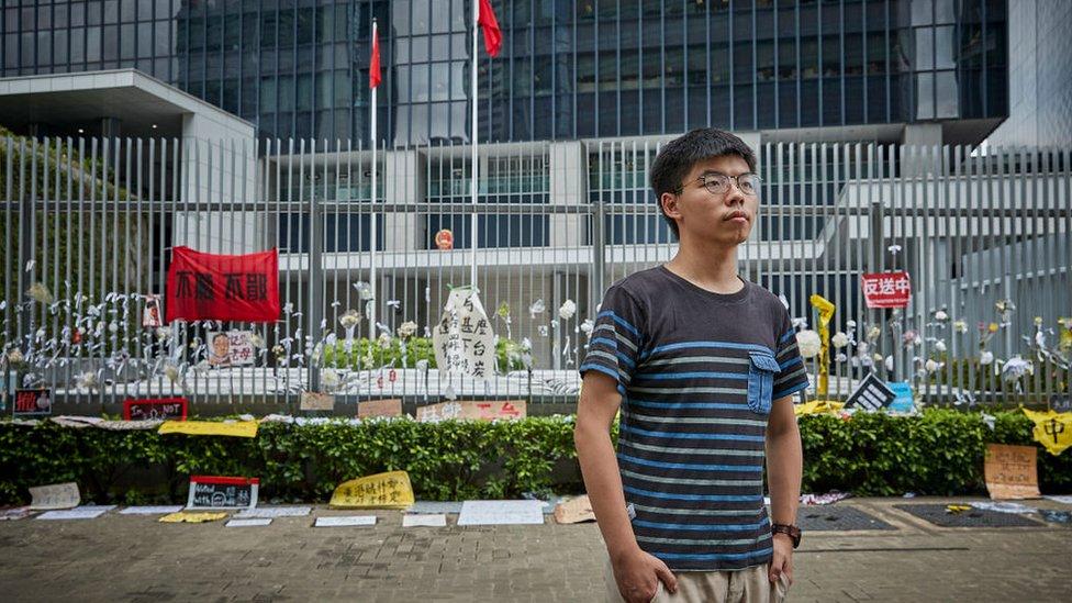 Joshua Wong, activista estudiantil.