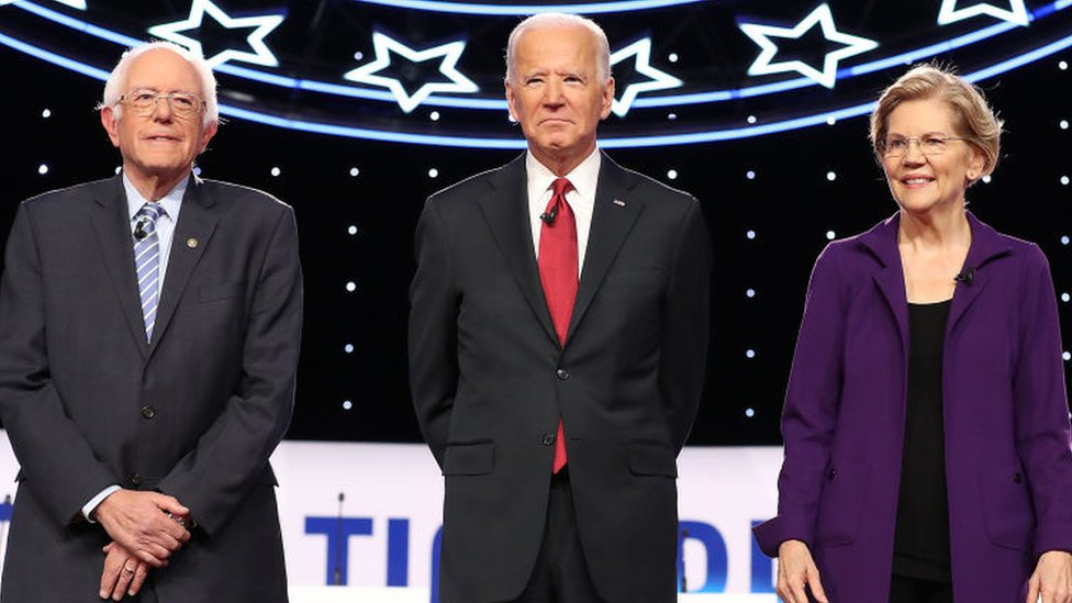 Bernie Sanders, Joe Biden, and Elizabeth Warren