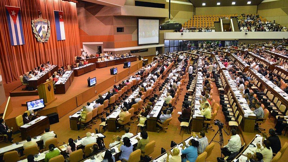 Parlamento cubano.