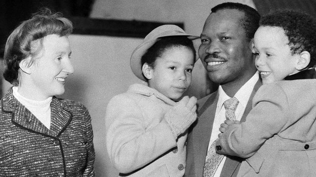 Seretse Khama and Ruth with their children