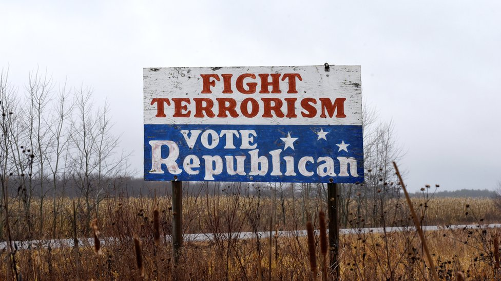 Pancarta política en Wisconsin