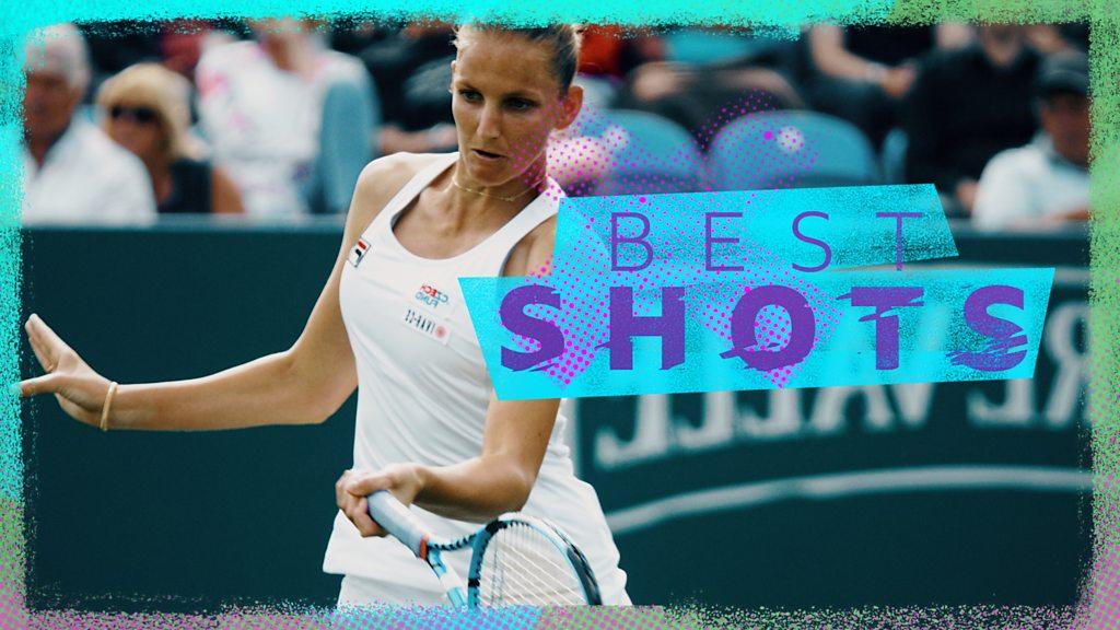Eastbourne: Pliskova beats Gasparyan - best five shots