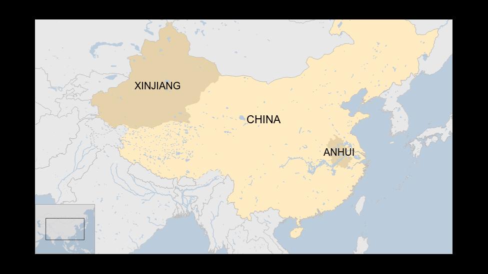 Peta lokasi Xinjiang