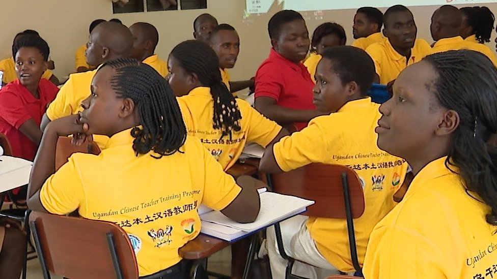 Teachers on a course to learn Mandarin in Kampala, Uganda