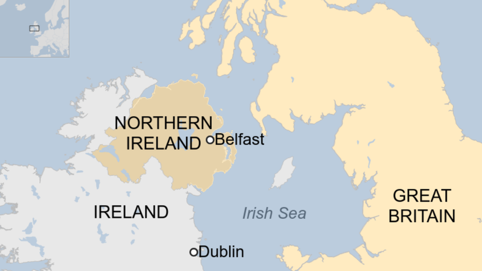 Map of Ireland, Northern Ireland and Great Britain