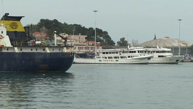 Ships on Lesbos