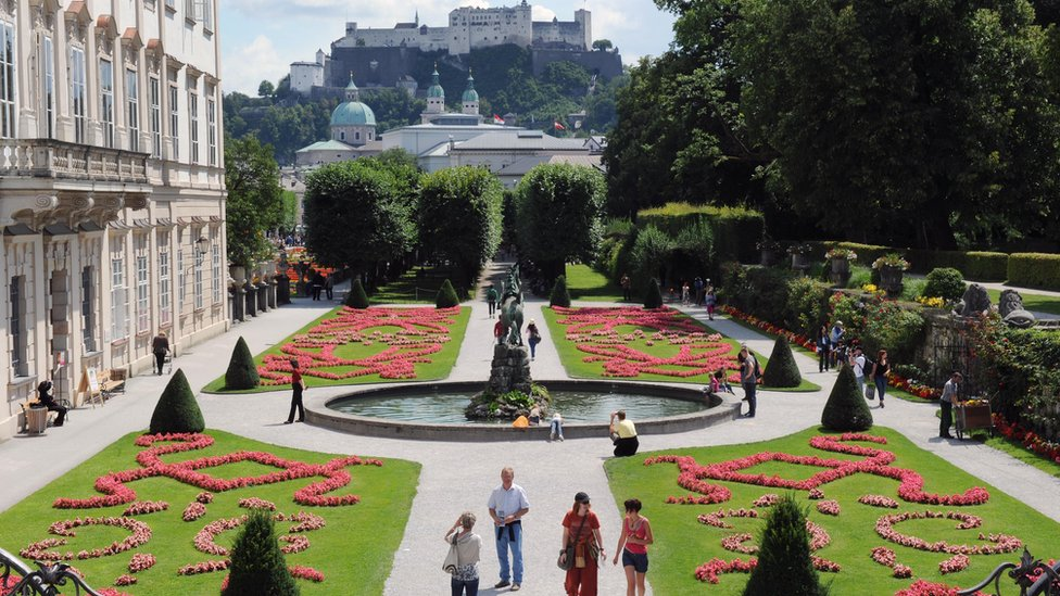 View of Salzburg, birthplace of Wolfgang Amadeus Mozart