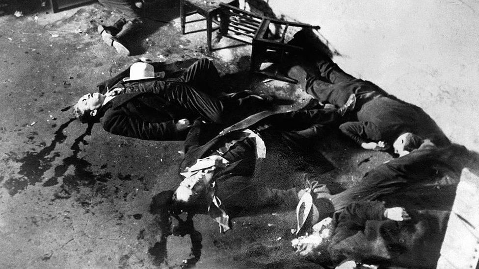 Muertos en la masacre del día de San Valentín