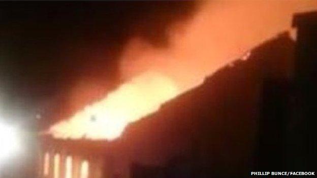 Fire at Capel Aberfan