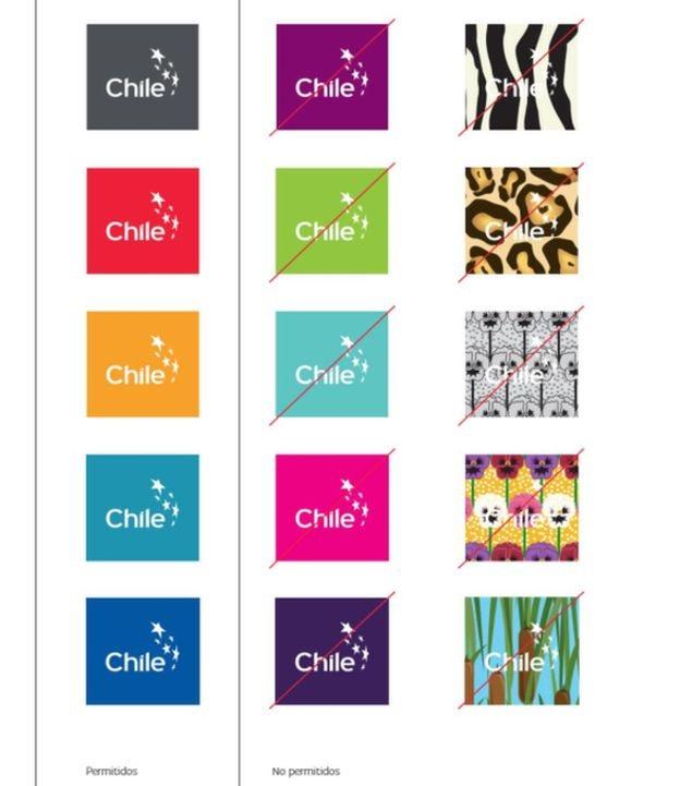 Логотипи Чилі різними кольорами