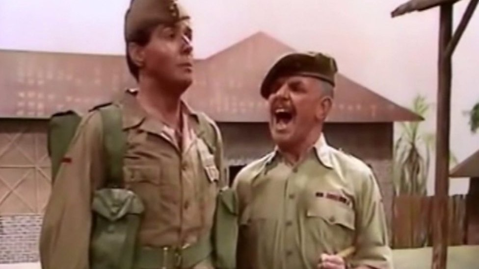 Windsor Davies in It Ain't Half Hot Mum