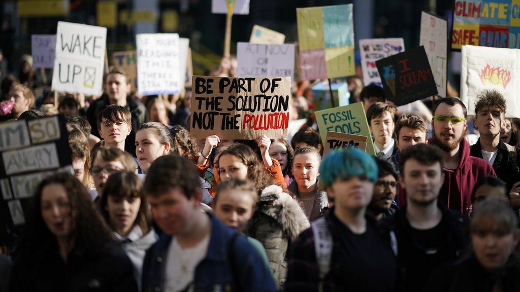Climate march students: 'We need change and we need it now'