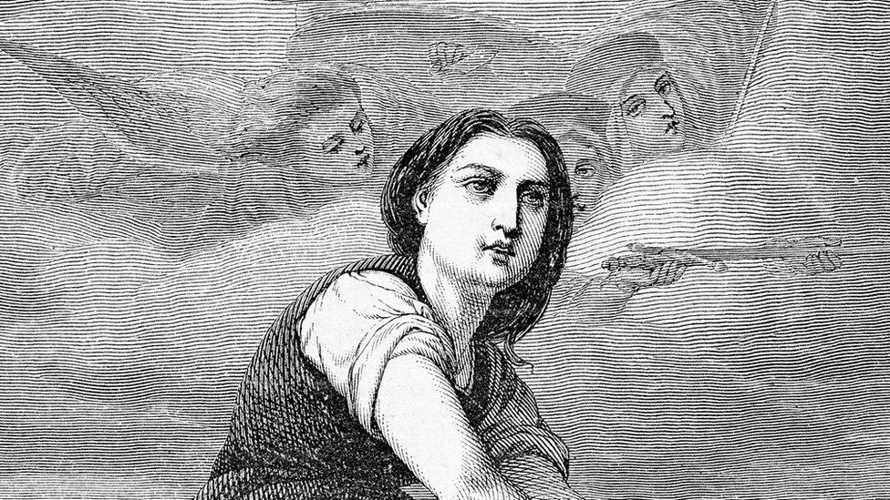 Dibujo de Juana de Arco