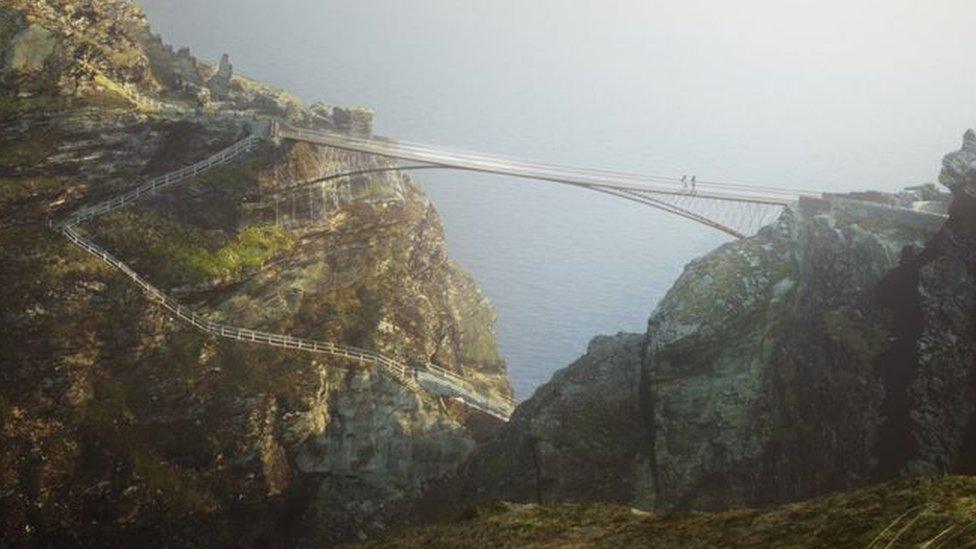 Tintagel Castle bridge gets £2.5m donation