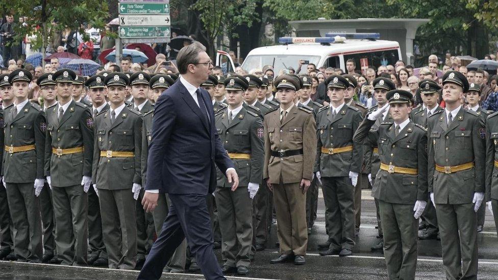 Predsednik Srbije na paradi