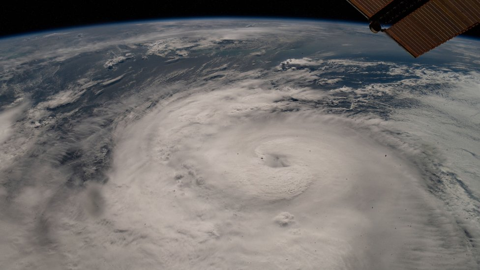 Hurricane Zeta photographed from the ISS.