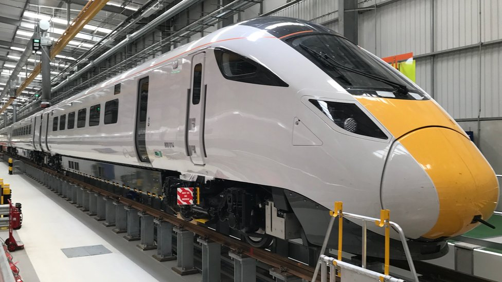 one of the new hybrid trains