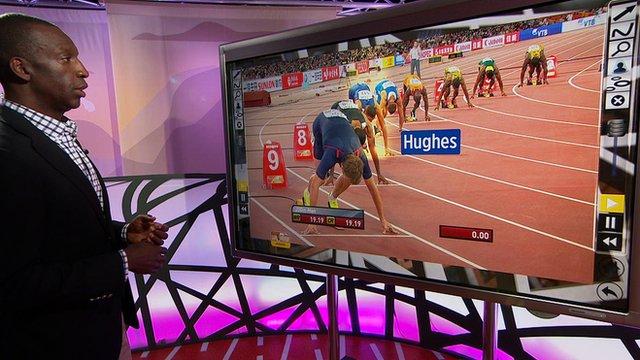 Michael Johnson analyses Zharnel Hughes' win